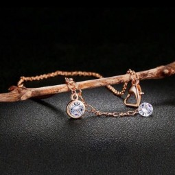 rose gold plated armband