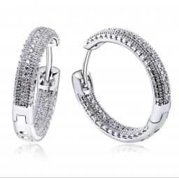 White Gold Plated Creolen Zirkonia´s