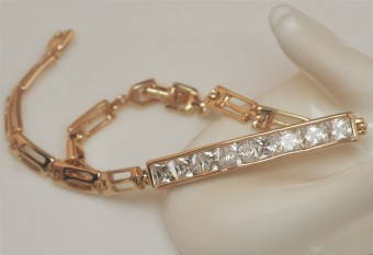 Gold Plated Armband met Zikonia´s